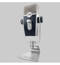 Micrófono de condensador USB profesional con base ideal para Streaming y Podcast